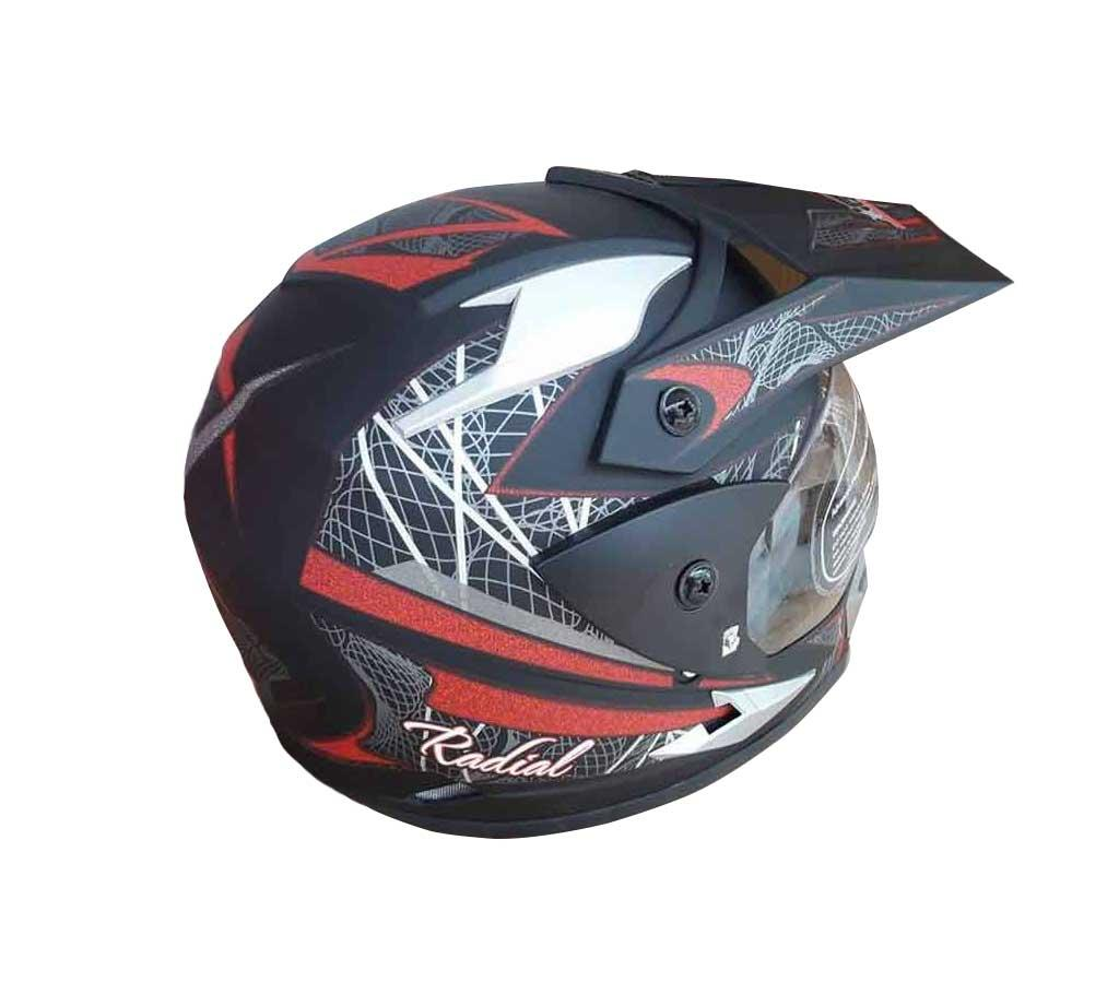 ARON Motor Bike Helmets - Black