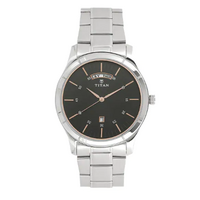 TITAN Workwear Watch with Stainless Steel Strap