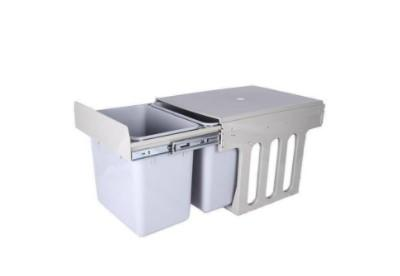 PVC Drawing Dustbin - White