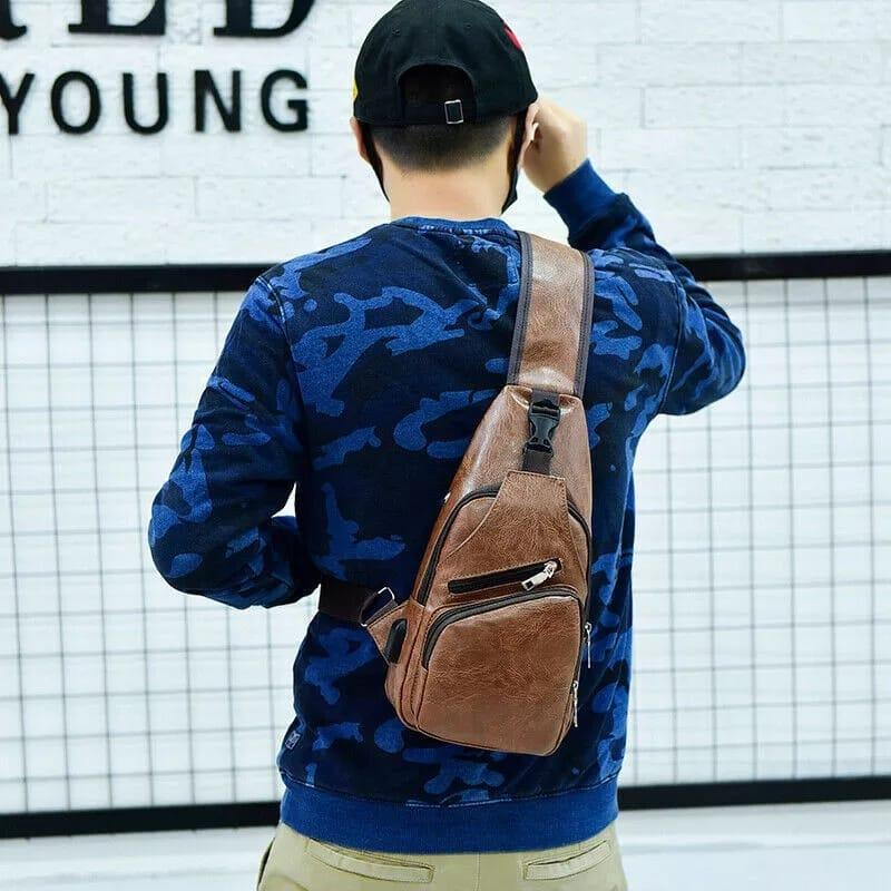 Brown Crossbody Fashion Backpack