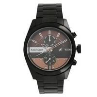 Fastrack All Nighters Brown Dial Metal Strap Watch