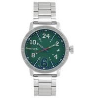 Varsity Green Dial Stainless Steel Strap Watch