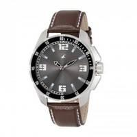 Fastrack Leather Strap Men's Quartz Watch