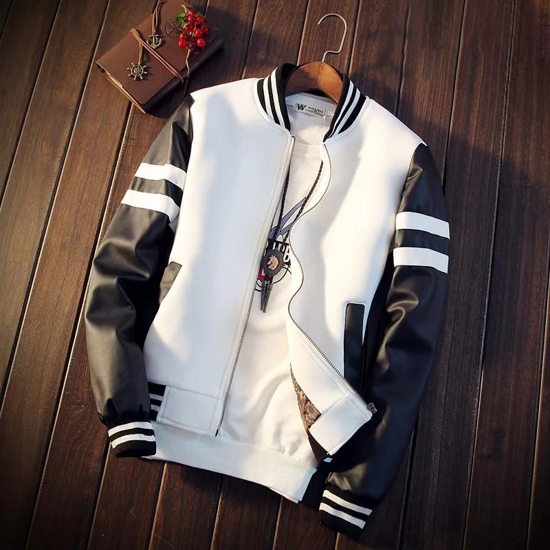 Black & White Bomber Pilot Jacket
