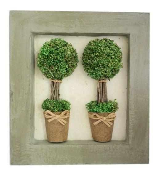 Two  Sg Hf Topiary In Pict Frame (BB/FRAM5) 27.5X5.5X30CM H