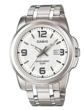 Casio Men White Dial Stainless Steel Band Watch (MTP-1314D-7AVDF)