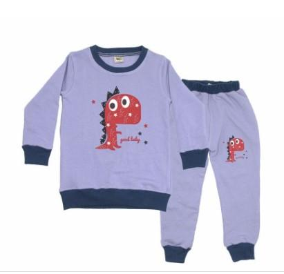 Light Purple Cotton Long Sleeve Sweater and Pant Set For Kids