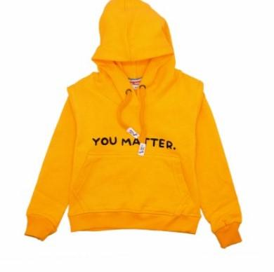 Golden Yellow Stylish Hoodie For Kids