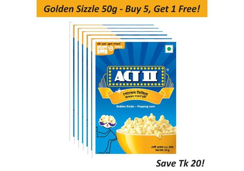 Act II IPC Golden Sizzle 50gm (Buy 5, Get1)-COM5-AB02