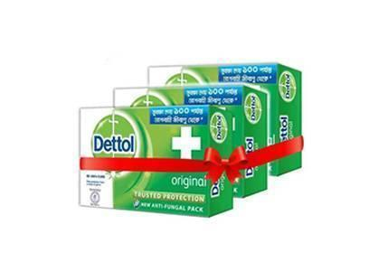 Dettol Original Bathing Bar Soap 75gm-3pcs