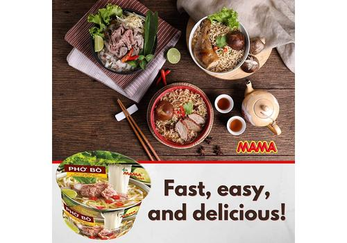 Mama Instant Bowl Rice Noodles with Artificial Chicken Flavour 65gm-M001316