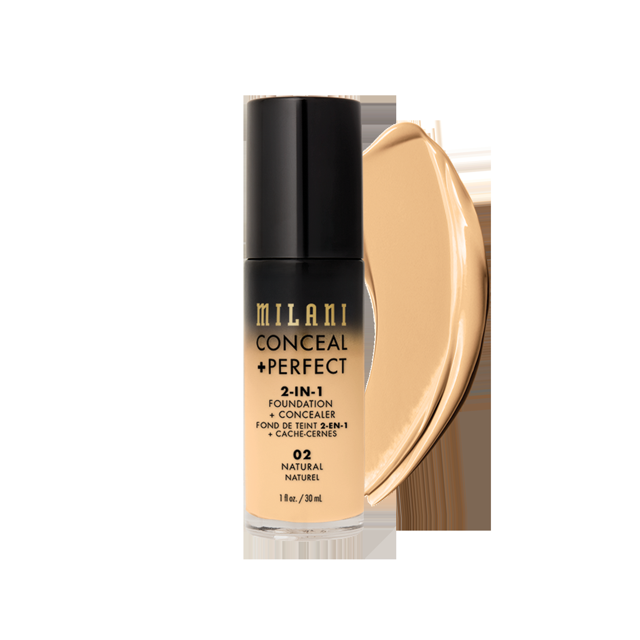 Milani 2-In-1 Foundation & Concealer-Natural