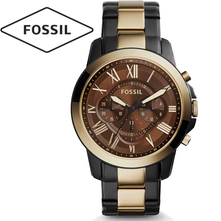 Fossil Chronograph Dark Brown Dial Two...
