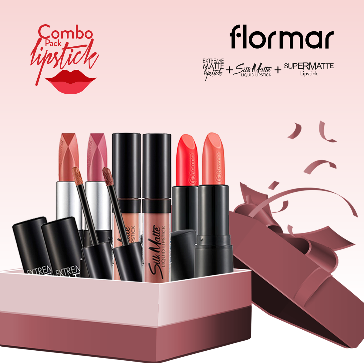 Flormar Lipstick (Combo Offer 1)- 6 Pieces