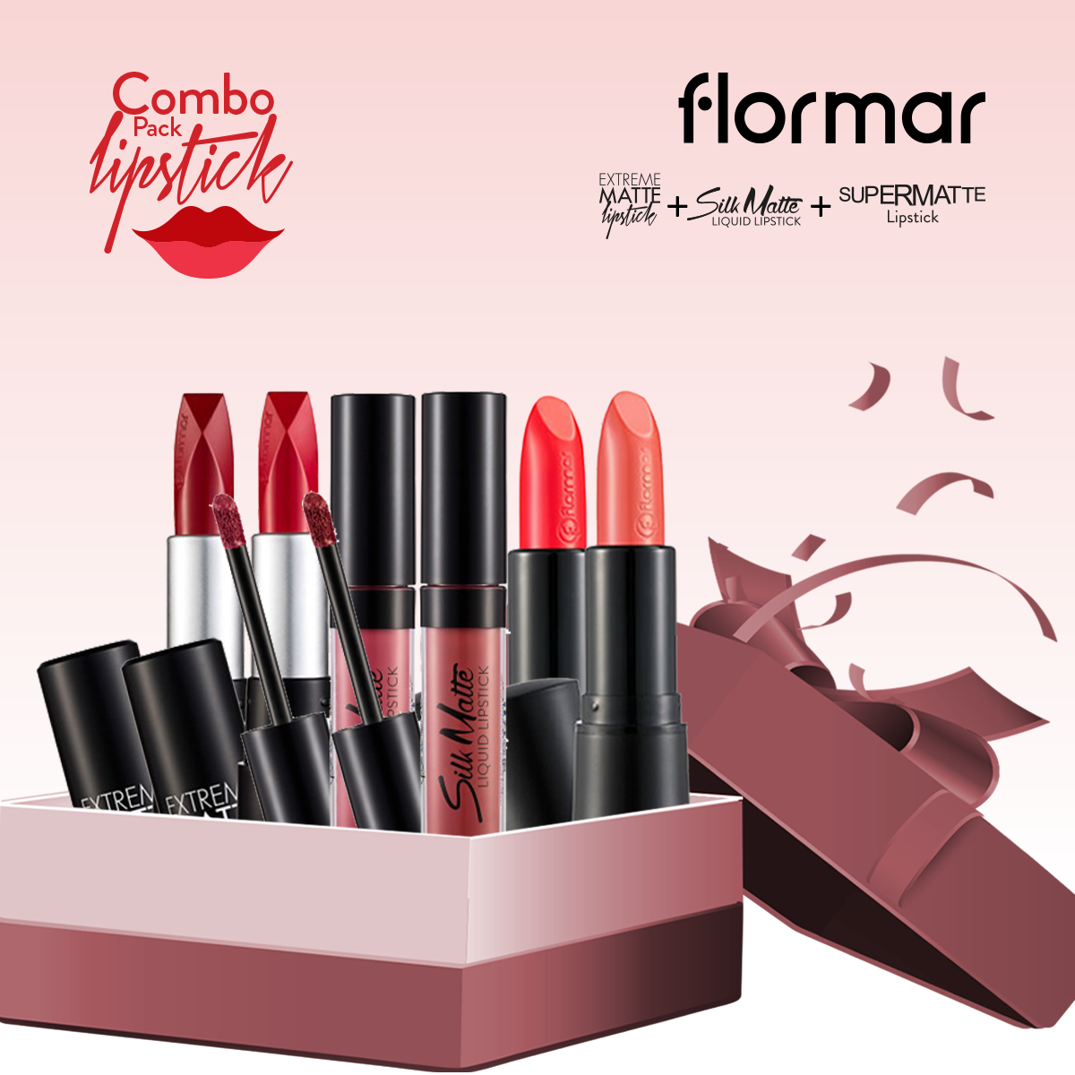 Flormar Lipstick (Combo Offer 2)- 6 Pieces