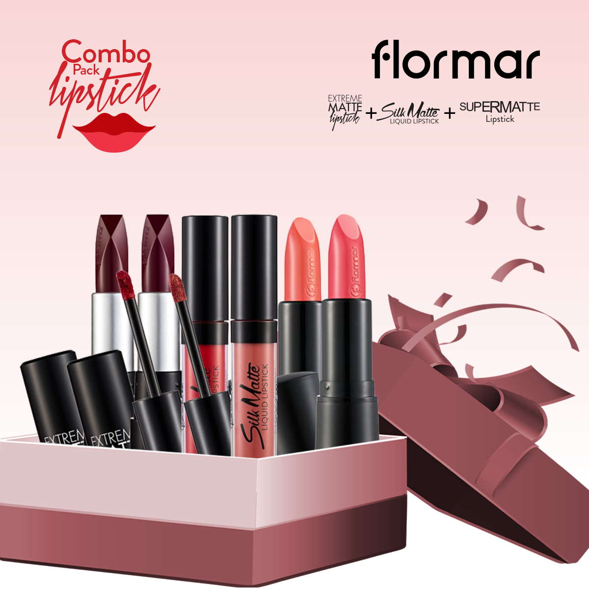 Flormar Lipstick (Combo Offer 3)- 6 Pieces
