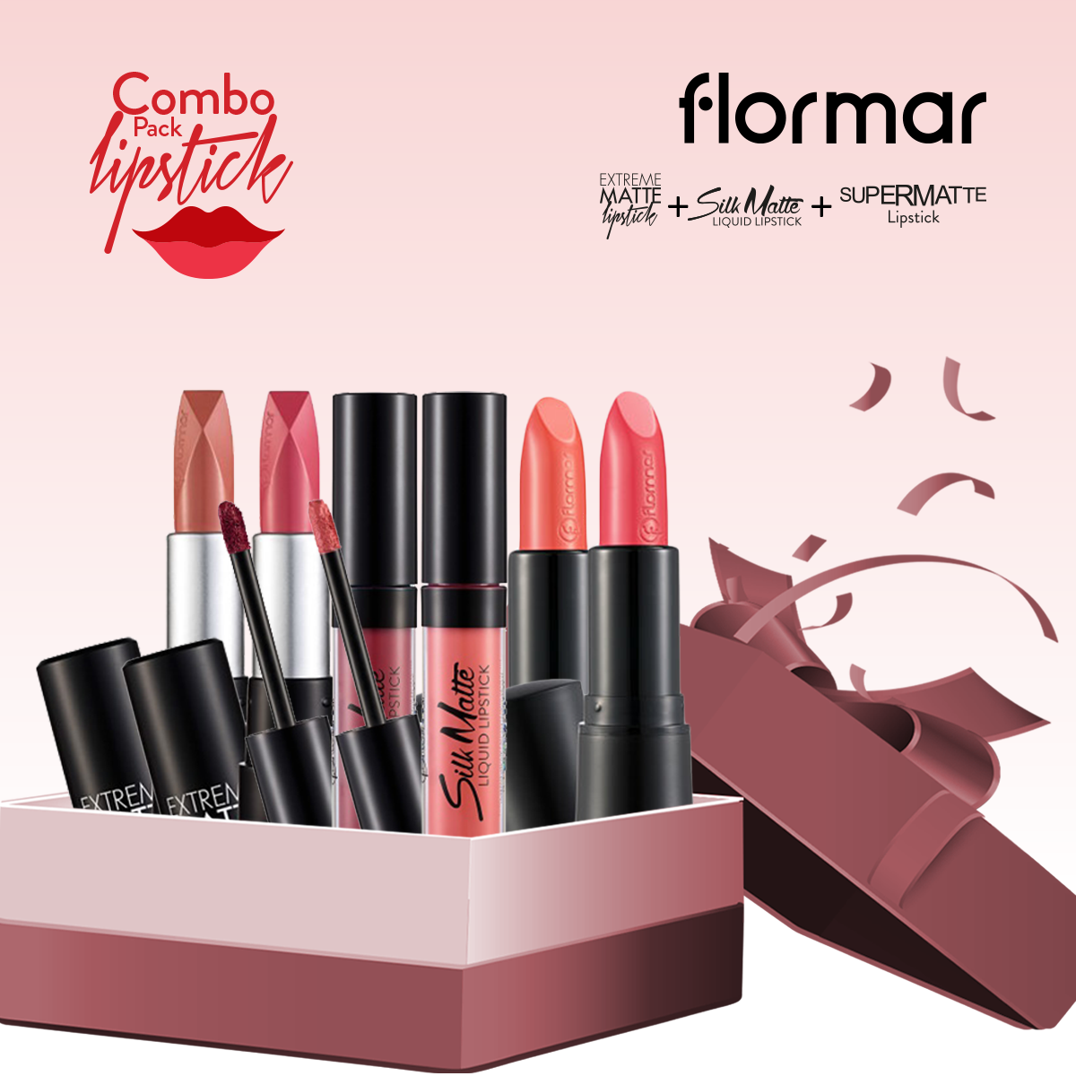 Flormar Lipstick (Combo Offer 4)- 6 Pieces