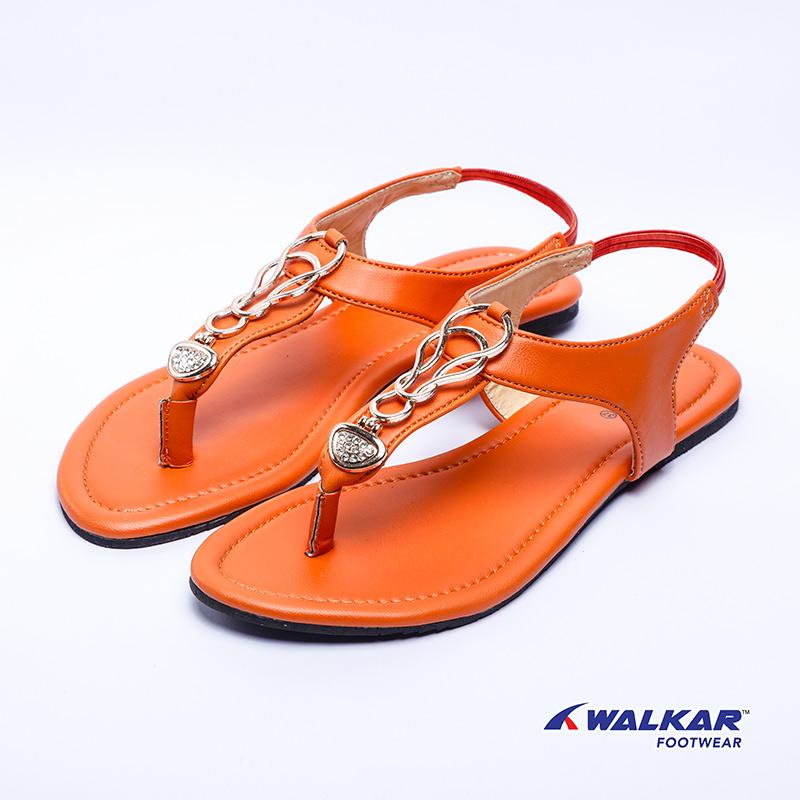 Walkar Ladies Sandal-Orange- 560211303