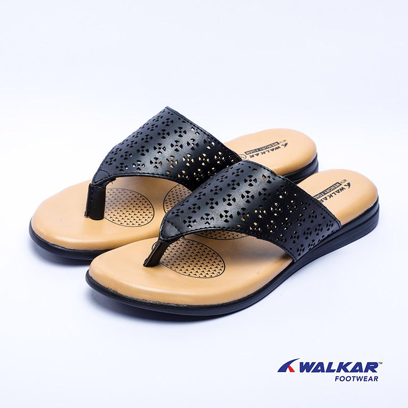 Walkar Ladies Sandal-Black- 560403505