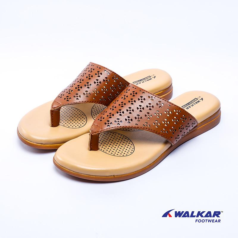 Walkar Ladies Sandal-Brown- 560503505