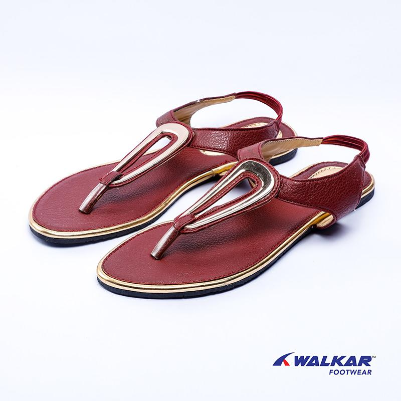 Walkar Ladies Sandal-Maroon- 560611302