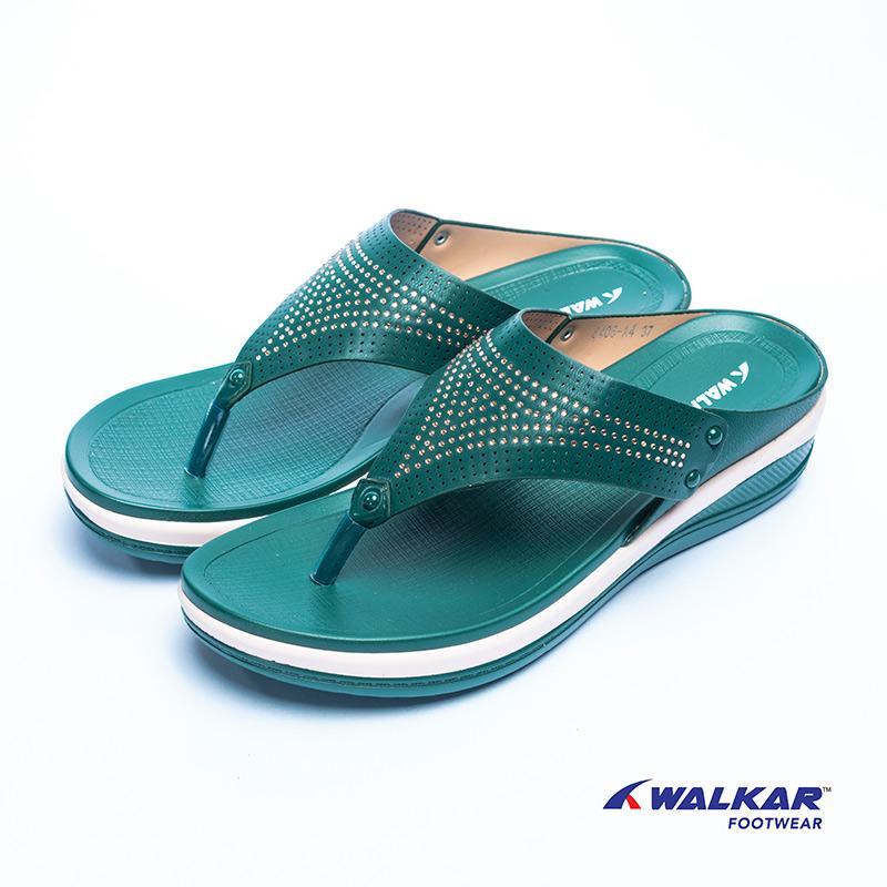 Walkar Ladies Sandal Green- 660807203
