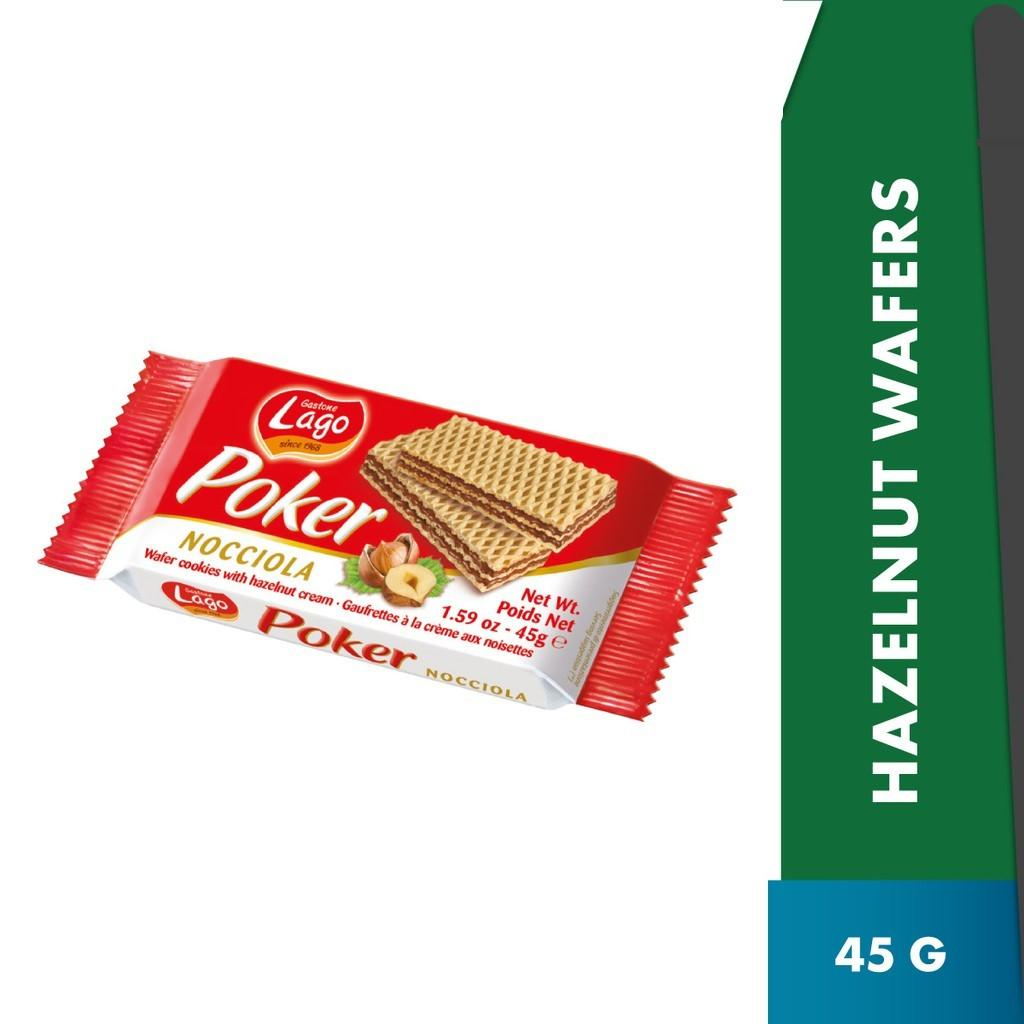 Poker Wafers Hazelnut 5 x45g