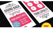 Beauty and Fashion Loyalty Card Template 1